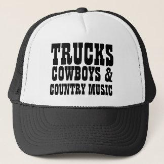 Casquette Cowboys et musique country de camions