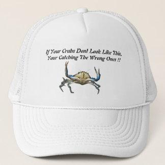 Casquette Crabes contagieux, chapeau blanc drôle de