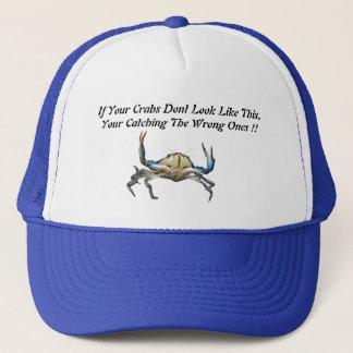 Casquette Crabes contagieux, chapeau drôle de camionneurs