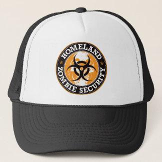 Casquette Crâne de sécurité de zombi de patrie - orange