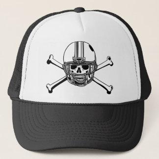 Casquette Crâne et joueur de football d'os de croix
