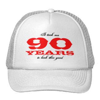 Casquette d'anniversaire pour 90 l'âge d'ans |
