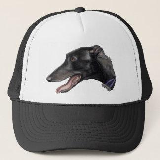"""Casquette d'art de chien """"de lévrier noir"""""""