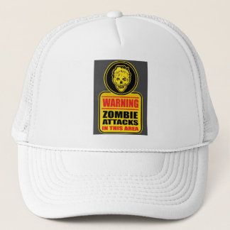 Casquette d'avertissement d'attaques de zombi