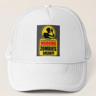 Casquette d'avertissement de zombis en avant