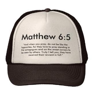 Casquette de 6:5 de Matthew