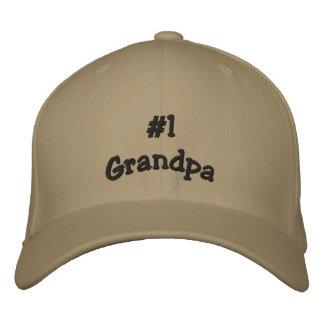 Casquette de basball de grand-papa du numéro 1 casquette brodée