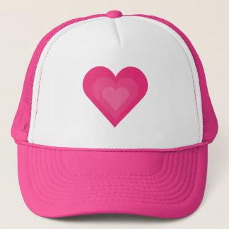 Casquette de baseball assez rose de coeurs de