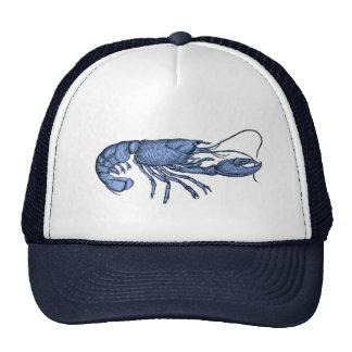 Casquette de baseball bleu de homard avec la rétro