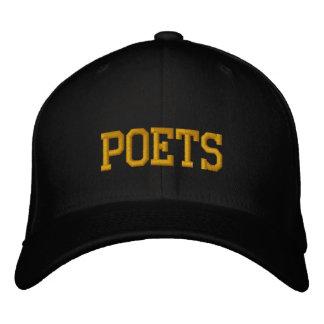 """Casquette de baseball brodée de """"poètes"""""""
