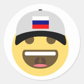 Casquette de baseball de la Russie Emoji Sticker Rond
