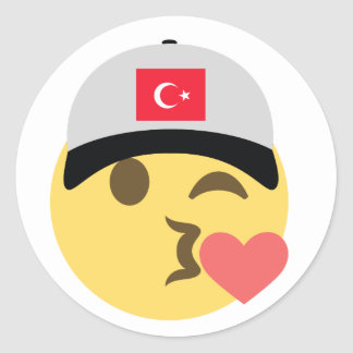 Casquette de baseball de la Turquie Emoji Sticker Rond