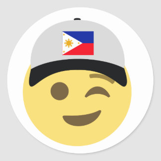 Casquette de baseball de Philippines Emoji Sticker Rond