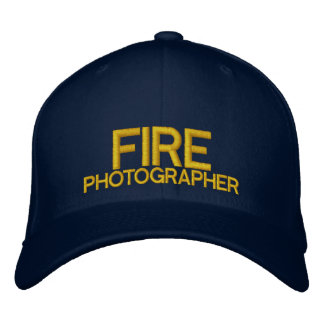 Casquette de baseball de photographe du feu
