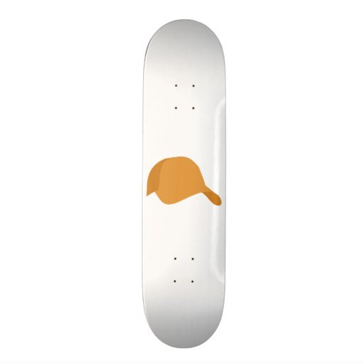 Casquette de baseball orange skateboards personnalisables