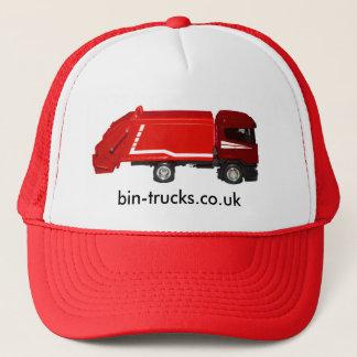 casquette de baseball rouge de camion de poubelle
