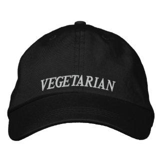 Casquette de baseball végétarienne de broderie