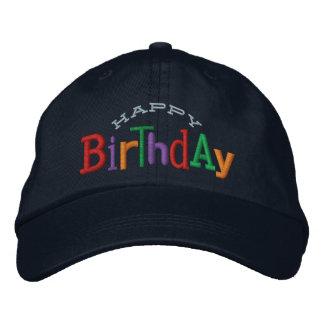 Casquette de broderie de joyeux anniversaire casquette brodée