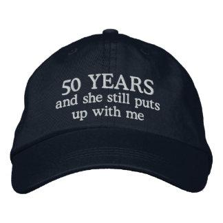 Casquette de cadeau du casquette cinquantième des casquette brodée