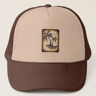Casquette de camionneur avec des palmiers