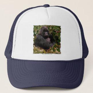 Casquette de camionneur d'art de faune de gorille