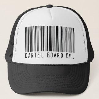 casquette de camionneur de code barres de cartel