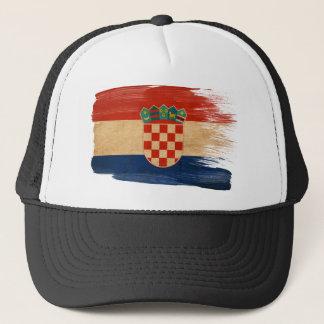 Casquette de camionneur de drapeau de la Croatie