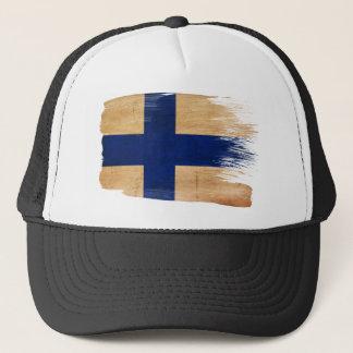 Casquette de camionneur de drapeau de la Finlande