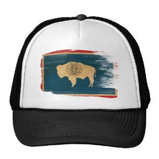 Casquette de camionneur de drapeau du Wyoming