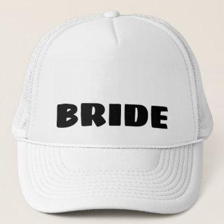 Casquette de camionneur de jeune mariée