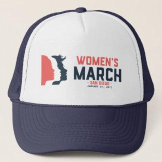 Casquette de camionneur de mars des femmes de San