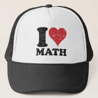 Casquette de camionneur de maths d'amour du cru I