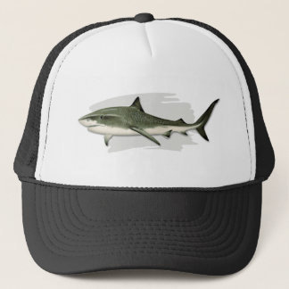 Casquette de camionneur de requin de tigre
