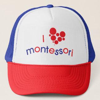 Casquette de camionneur d'I <3 Montessori