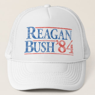 Casquette de campagne affligé de Reagan Bush '84