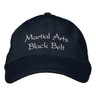 Casquette de ceinture noire d'arts martiaux casquette brodée