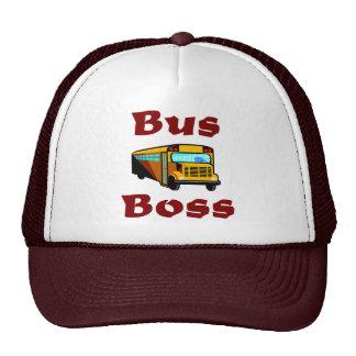 Casquette de chauffeur d'autobus scolaire.  Patron
