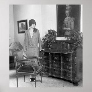 casquette de cloche de mode des années 1920 posters