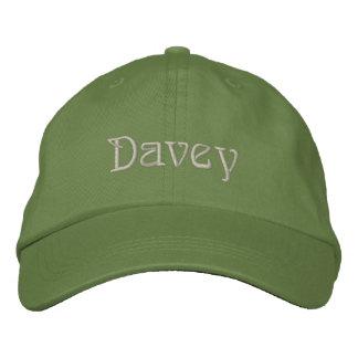 Casquette de concepteur nommé de DAVEY Casquette Brodée