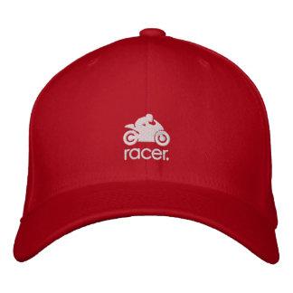 Casquette de coureur de cm (blanc) casquette brodée