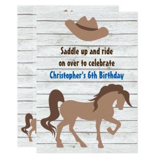 Casquette de cowboy, invitation occidental