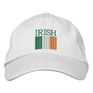 Casquette de drapeau de l'Irlande du jour de St Casquette Brodée