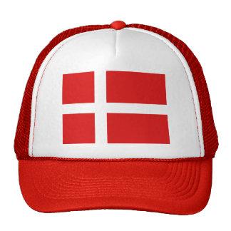 Casquette de drapeau du Danemark