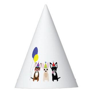 Casquette de fête d'anniversaire de chiwawa chapeaux de fètes