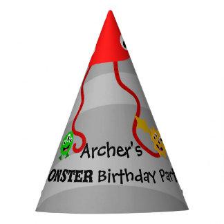 Casquette de fête d'anniversaire de monstre chapeaux de fètes