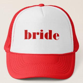 casquette de jeune mariée