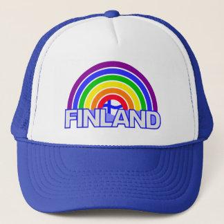 Casquette de la Finlande d'arc-en-ciel