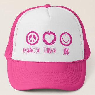 Casquette de la joie v2 d'amour de paix