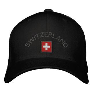 Casquette de la Suisse avec le drapeau suisse Casquette Brodée