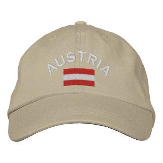 Casquette de l'Autriche - drapeau autrichien Casquette Brodée